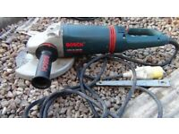 "9""Bosch angle grinder with vibration control"