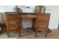 1930s wooden teacher's desk, Angus brand