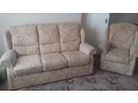 Patterned fabric Sofa and 1 chair Free