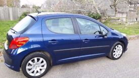 peuegot 207 darkblue easy going car really low millage also in mint condition