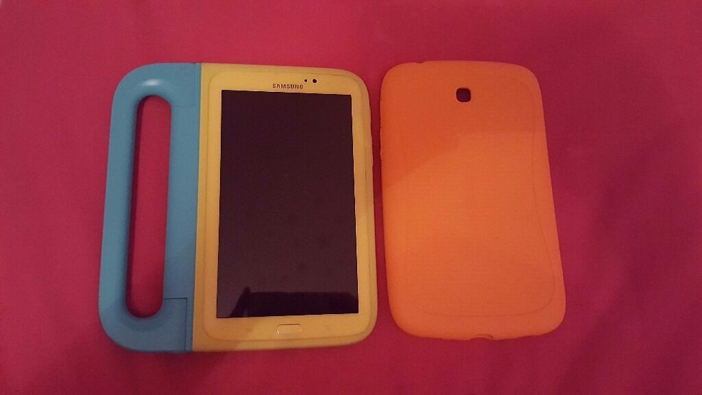 Samsung Galaxy Tab3 Kids 7 inch Tabletin Dalkeith, MidlothianGumtree - Samsung Galaxy Tab3 Kids 7 inch Tablet Includes bumper case & carry case. This tablet is in great working condition with no scratches as it has been well looked after and has always had a case and screen protector on it. Interactive Kids Mode for...