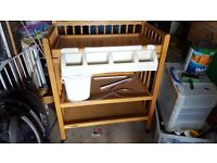 Wooden Baby Changing and Bathing Unit