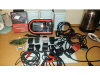 Snap On Ethos Diagnostic Tool 13.2 Software Plus 31 Snap On Personality Keys leads and carry case.