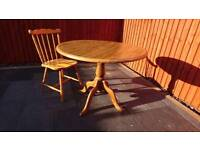 Kitchen/dining room table with four chairs