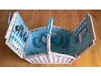Picnic folding basket 4 persons