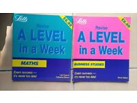 A Level in a Week (Maths and Business Studies)