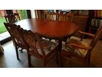 Rossmore dining room table and chairs
