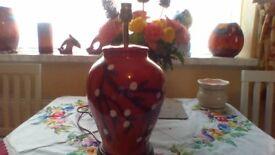 poole pottery lamp