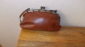 Genuine leather vintage handbag