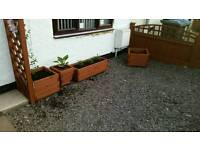 Wooden planters various styles