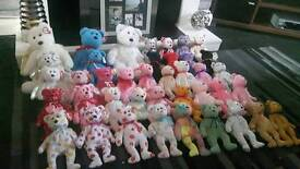 40 TY bears collection 3 large 37 small