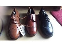 HAND MADE LEATHER BROGGS BRAND NEW SIZE 7 BLACK BROWN SIZE 8 RED SIZE 8.5 £25 O N O