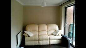 Leather Suite, 2 chairs + 3 seat sofa