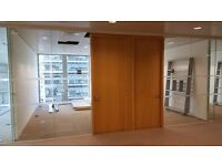 USED GLASS PARTITIONS FOR SALE - VARIOUS WIDTHS & HEIGHTS AT ST PAULS, THE GHERKIN & CANARY WHARF