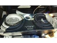 2x Pioneer 3000w dual 4 ohms with box