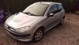 2001 Peugeot 2006 look 1.1 petrol new mot