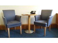Chair, sofa, table