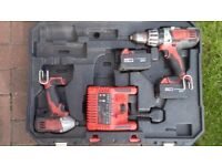 Milwaukee 18V Cordless Impact Driver & Combi Drill Twin Pack.