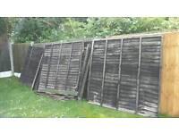 6 & half fence panels