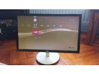 AOC 23 inch computer monitor 1080p slimline black and white e2343F2