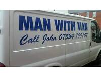Man With Van covering Preston,Blackpool,Manchester,Liverpool and surrounding areas