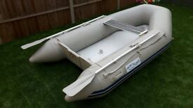 2.7m long Inflatable 'Airdeck' Dinghy for sale, with everything you need to get on the water