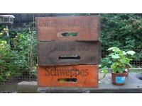 Cash paid for old wooden bottle boxes Canada Dry Schweppes C & C etc