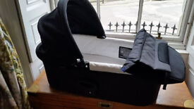 Baby Jogger deluxe pram bassinet/carrycot with attachments