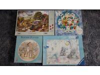 Four Excellent Jigsaw Sets: The Snowman, Beatrix Potter, WW2 Land Girls, Me to You