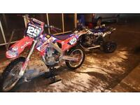 Honda Crf 250 efi mint condition. May swap cr Yz Yzf kx kxf rm rmz Ktm banshee raptor ltr yfz