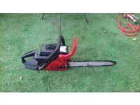 Johnson red chainsaw