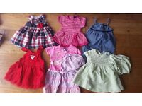 8 Baby Girl Dresses - 6-12m - excellent condition, some new with tags