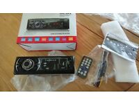 CAR RADIO FM BLUETOOTH MP3 USB CARD READER AUX REMOTE CONTROL