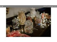Candy buffet glass jars set wedding /party