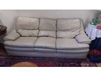 Three Seat Leather Sofa for Sale