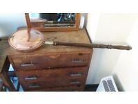 Vintage Copper Bed Warmer