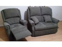 Beautifull sofas: 2 + 1 seater and a chair. Like new. NEED GONE ASAP