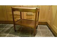 Hostess trolley on wheels 2 drawers cutlery Christmas guests / serving vintage