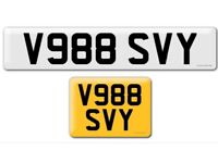 V988 SVY private cherished personalised personal registration plate number