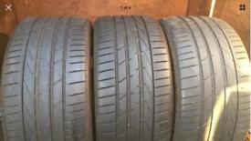 3x 245 35 19 HANKOOK EVOS 2 CAN POST ANYWHERE IN THE UK NEXT DAY