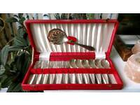 Silver plated antique cutlery