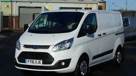 2016 FORD TRANSIT CUSTOM TREND EDITION. ONLY 24000 MILES. TOP SPEC TREND. PLY LINED. FULL BULKHEAD.