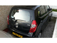 i10 1.2 Hyundai black car for sale. Only 11700 miles!!! 1 owner excellent condition FSH