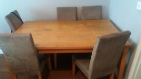 Dining table and chairs free