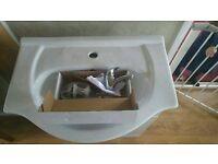 Bathroom Vanity Sink Unit, Tap and Waste