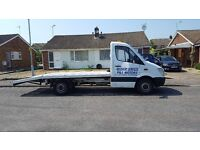 mercedes sprinter recovery van for hire