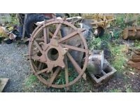 Tractor Wheels, Steel, Vintage