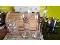 Beer glasses and tankard 500ml