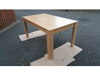 New Oak Veneer Dining Table 150cm FREE DELIVERY (02873)