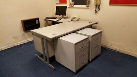 Office computer desks + drawers